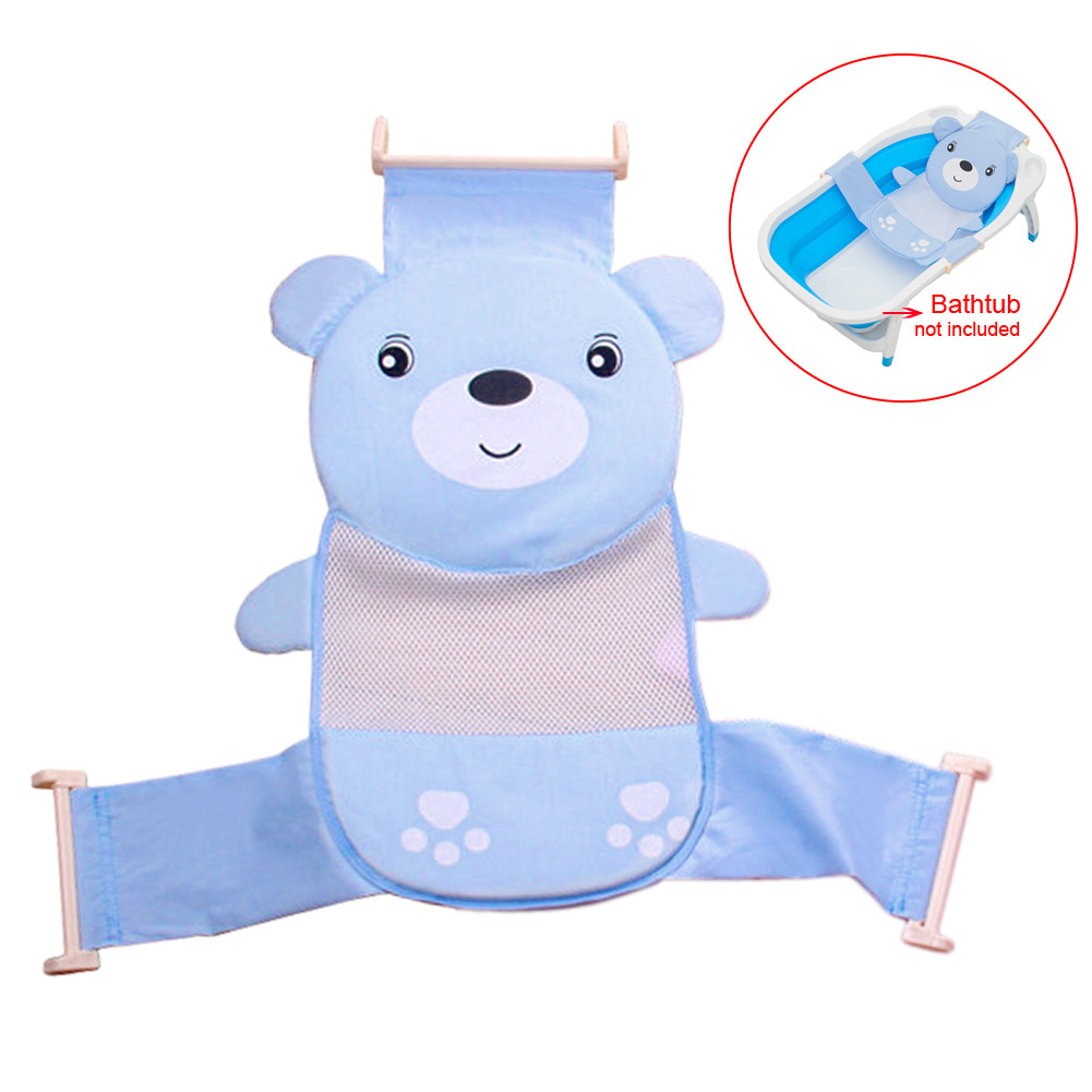 Well Baby Bath Seat Net Support Sling Shower Mesh Bathing Cradle Tub ...