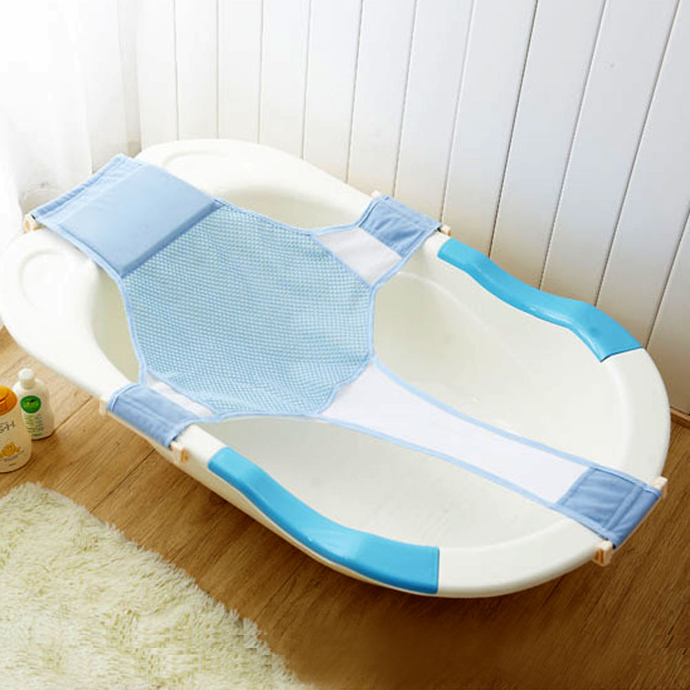 baby bathtub mesh seat adjustable support sling net infant bath tub hammock 66 ebay. Black Bedroom Furniture Sets. Home Design Ideas