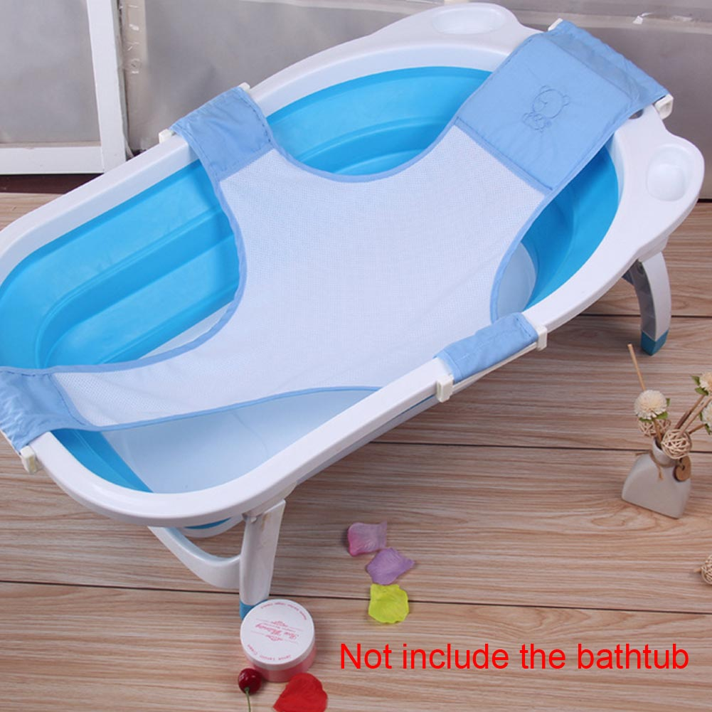 baby bathtub mesh bed seat support sling net infant bath tub hammock organizer ebay. Black Bedroom Furniture Sets. Home Design Ideas