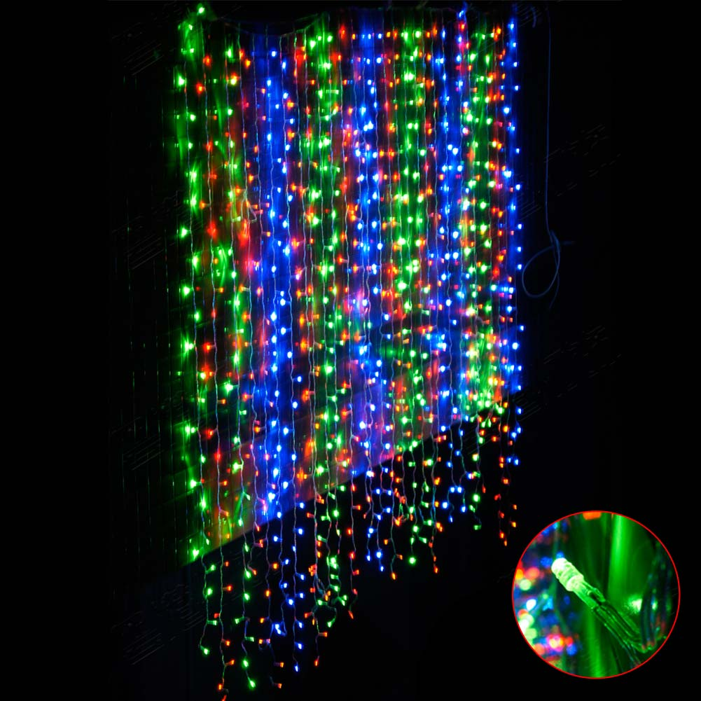 Curtain Icicle Lights String Fairy Light : 300LED Curtain Icicle Lights String Fairy Wedding Garden Waterfall Light US HOT eBay
