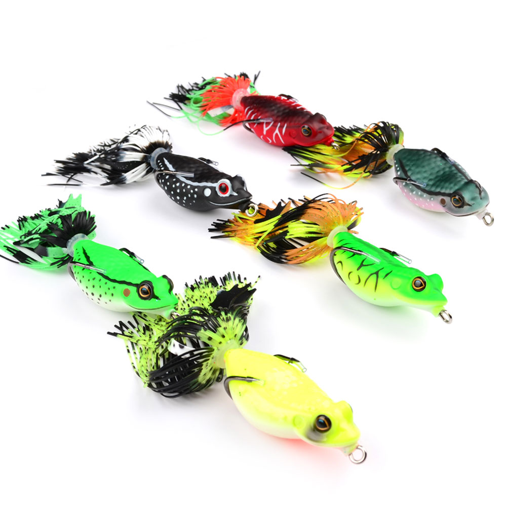 Hollow body frog rattle frogs topwater soft for Frogs for fishing