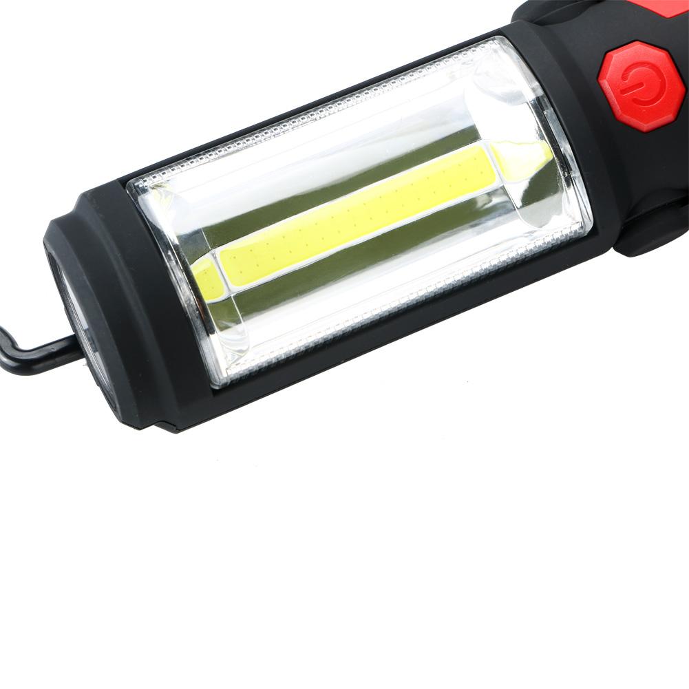 COB+LED Camping Work Inspection Magnetic Flashlight Light