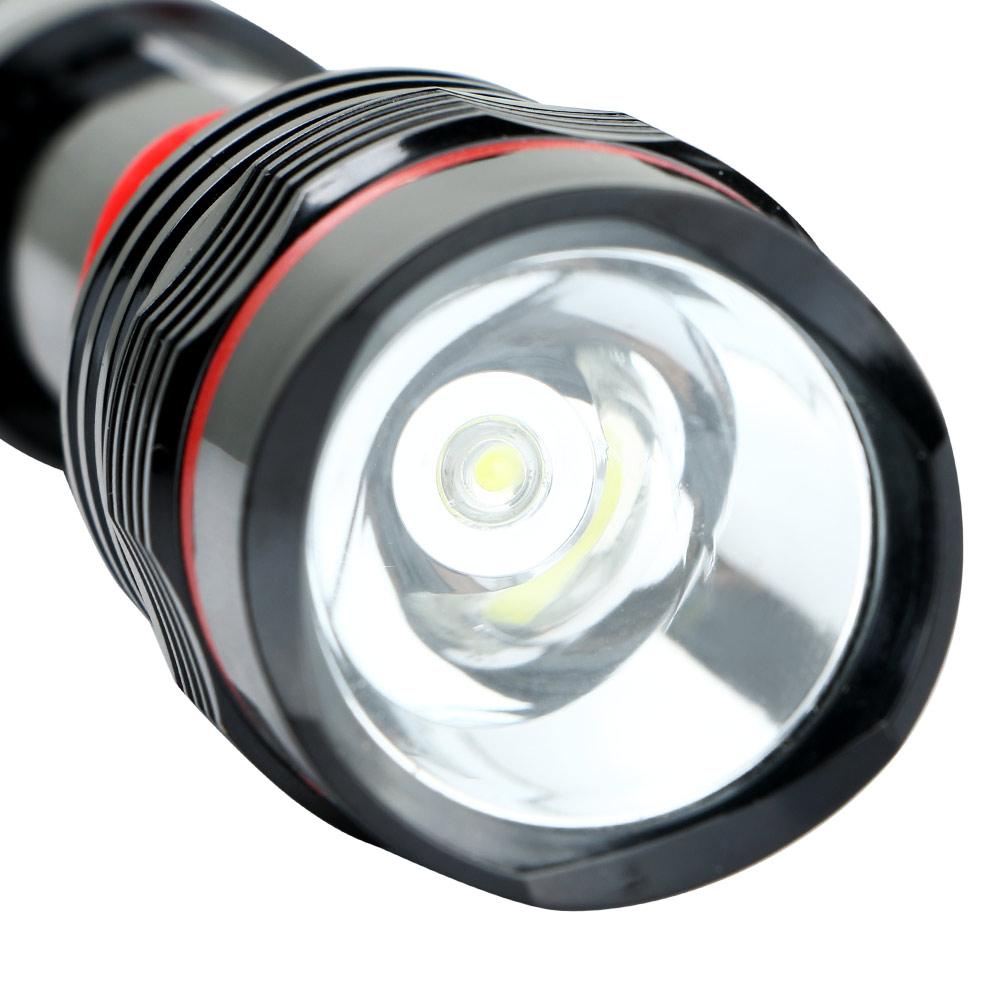led magnetic black work light inspection flashlight 300lm lamp torch. Black Bedroom Furniture Sets. Home Design Ideas