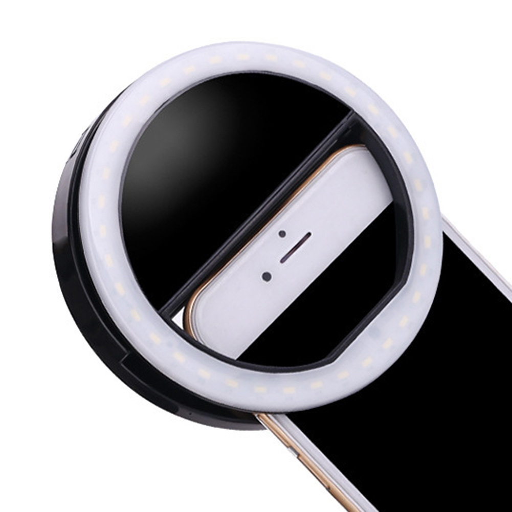 portable luxury selfie led camera ring flash fill light for iphone mobile phone ebay. Black Bedroom Furniture Sets. Home Design Ideas