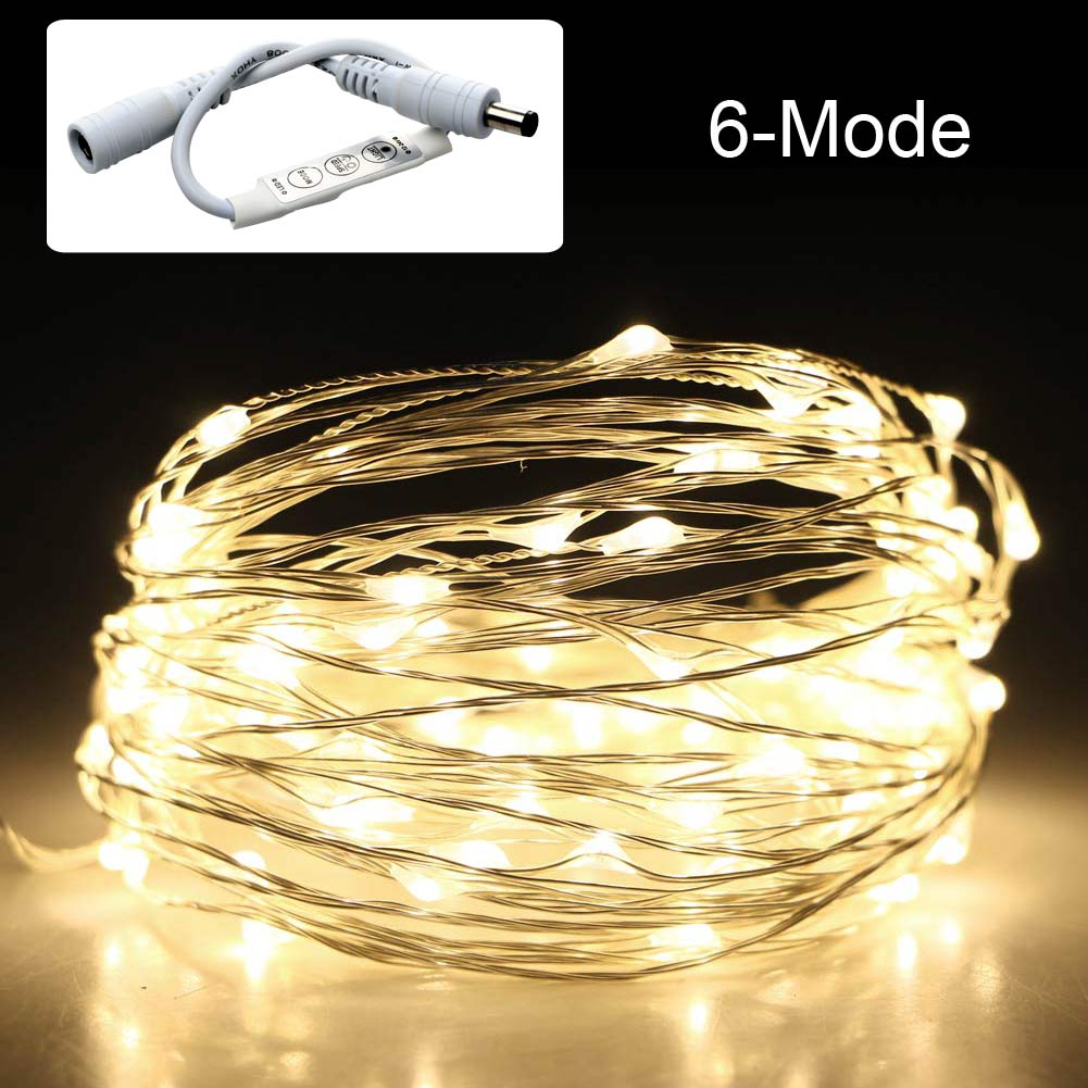 33ft/10m 100 LED Christmas String Light Lamp + Dimming Controller+ 12V2A Adapter eBay