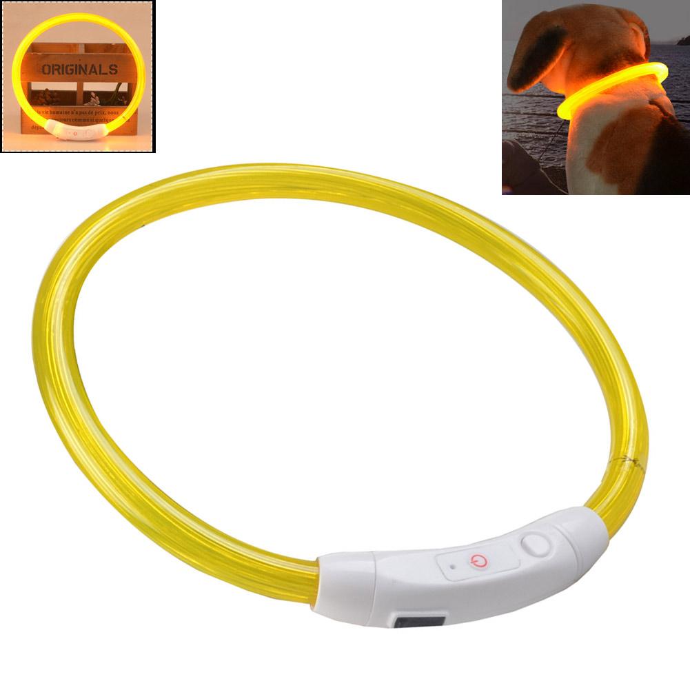 wiederaufladbare usb wasserdichte led leuchtband licht sicherheit haustierkragen ebay. Black Bedroom Furniture Sets. Home Design Ideas
