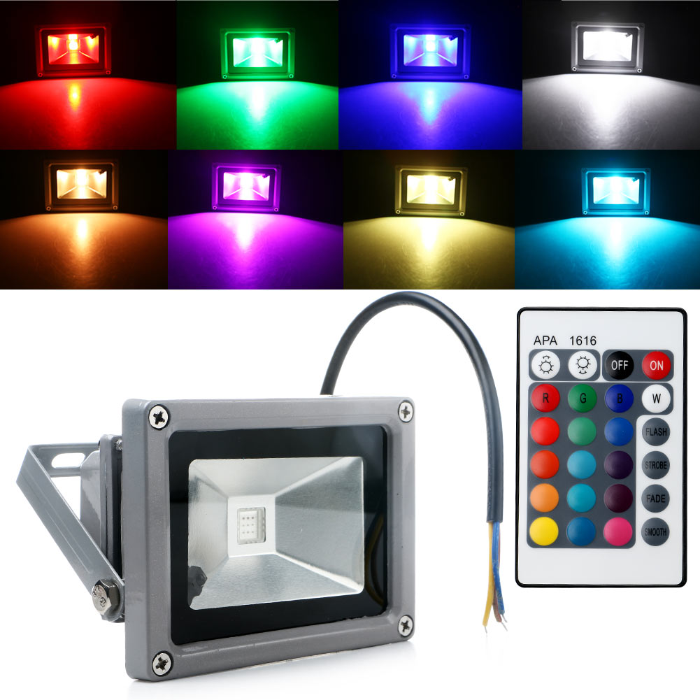 10w rgb waterproof led flood spot light outdoor landscape home garden wall lamp ebay. Black Bedroom Furniture Sets. Home Design Ideas