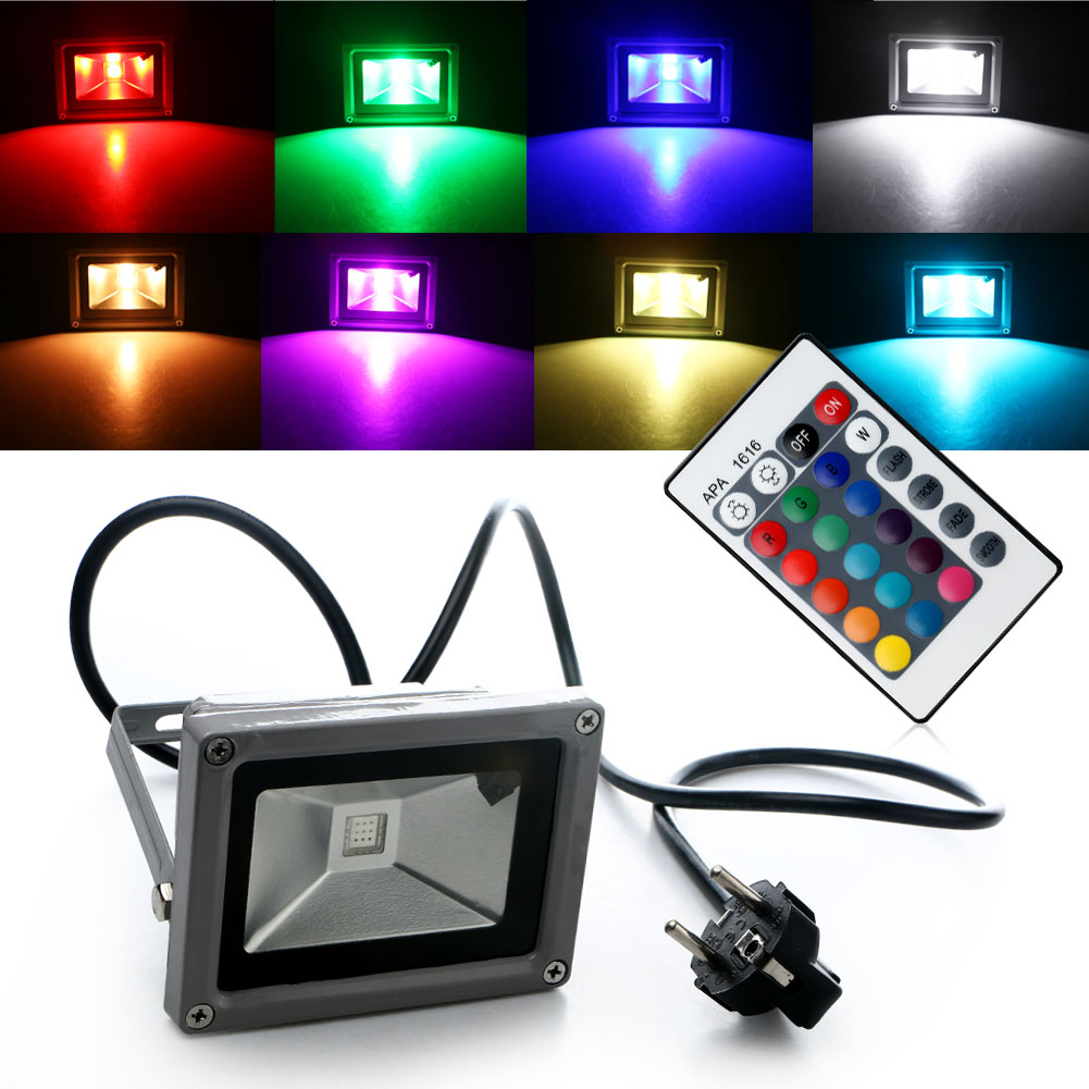 waterproof rgb led flood light landscape spot lamp spotlight security outdoor ebay. Black Bedroom Furniture Sets. Home Design Ideas