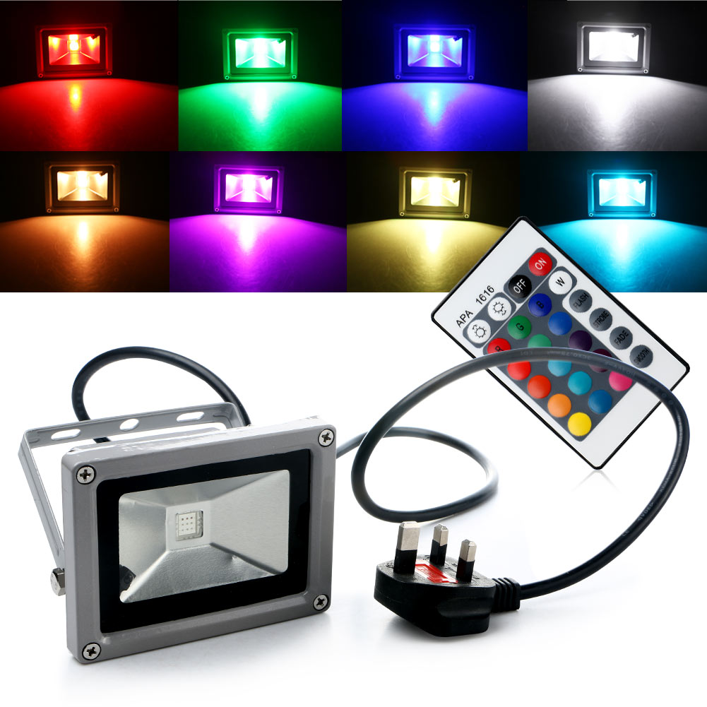 Landscape Flood Lights Spotlights: Waterproof RGB LED Flood Light Landscape Spot Lamp
