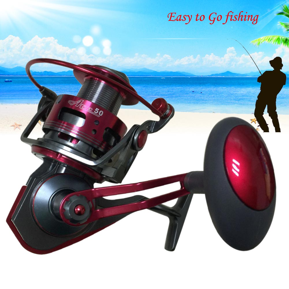 Ace50a full metal saltwater freshwater fishing spinning for Freshwater fishing reels