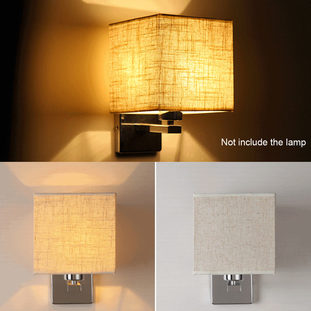 Led cloth wall lamp sconce light for hotel reading bedroom for Wall light with reading light