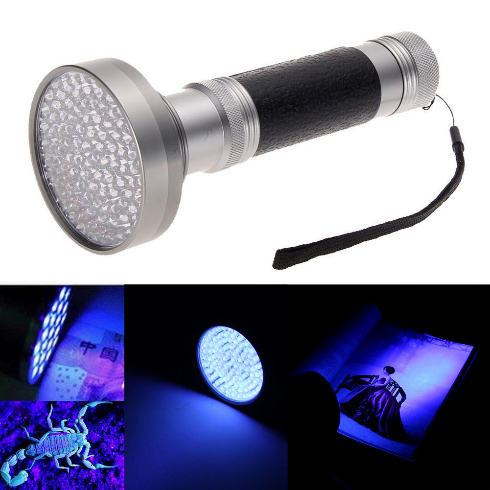 uv 100 led blacklight scorpion 395 400nm violet flashlight detection torch light. Black Bedroom Furniture Sets. Home Design Ideas