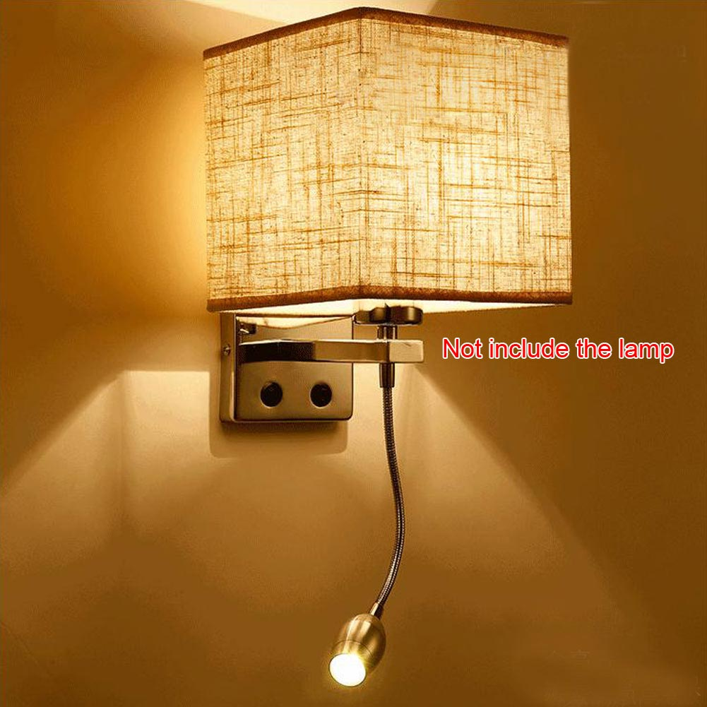 Modern LED Cloth Wall Lamp Wall Sconce Light Hallway Bedroom Bedside Wall Light eBay