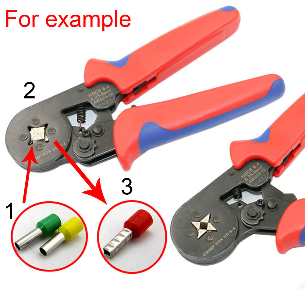Mini Self Adjustable Ratcheting Ferrule Wire Crimper Plier