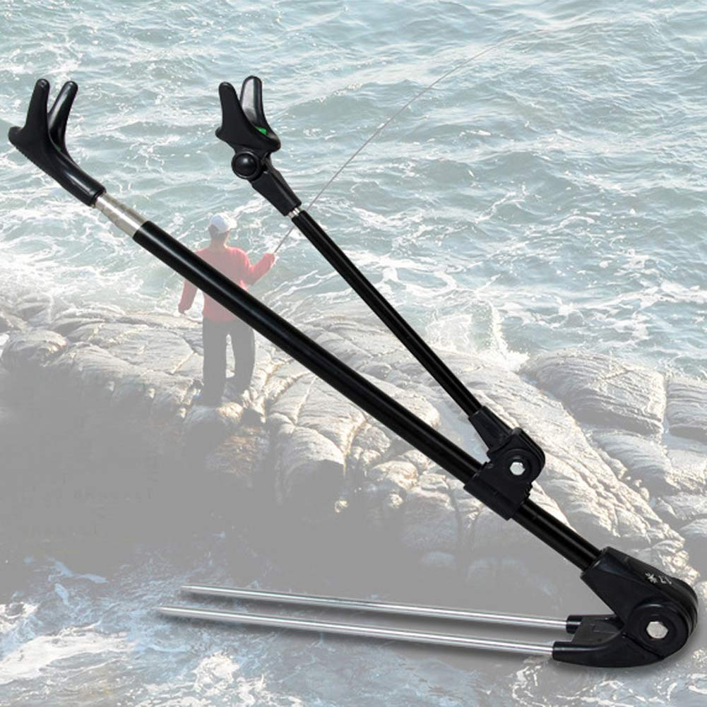 Fishing pole hand rod holder stand bracket telescoping for Fishing tool holder
