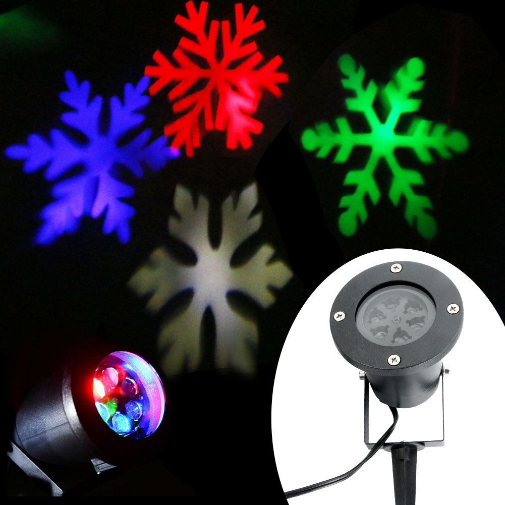 Wall Decoration Laser Lights : Moving sparkling snowflake landscape laser projector wall