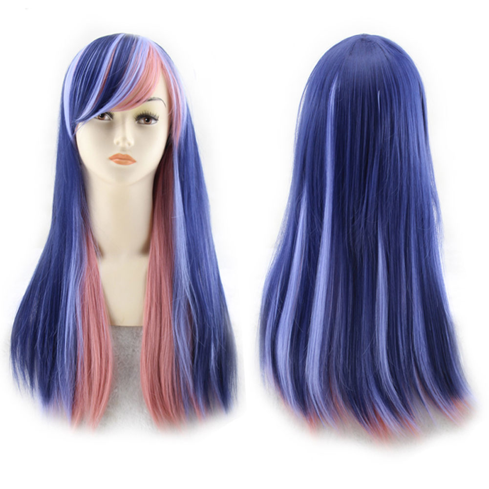Women 70cm Long Straight Wigs Fashion Cosplay Costume ...