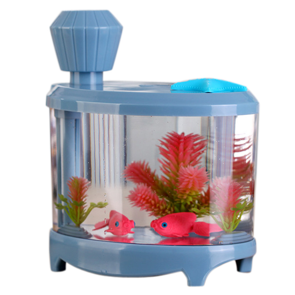 Fish tank mist humidifier ultrasonic colorful home night for Fish tank night light