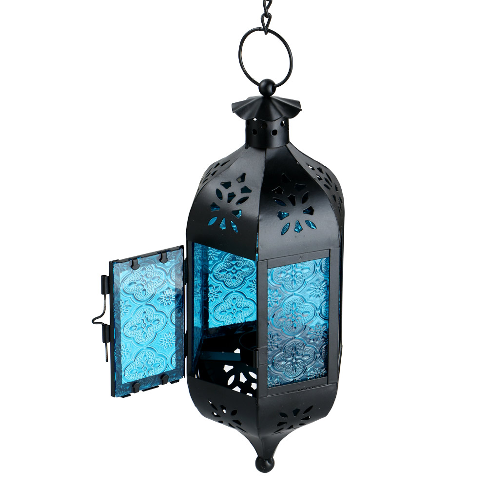 Hanging Candle Lanterns Flower Tower Lantern Wedding: Glass Metal Moroccan Delight Garden Candle Holder Table