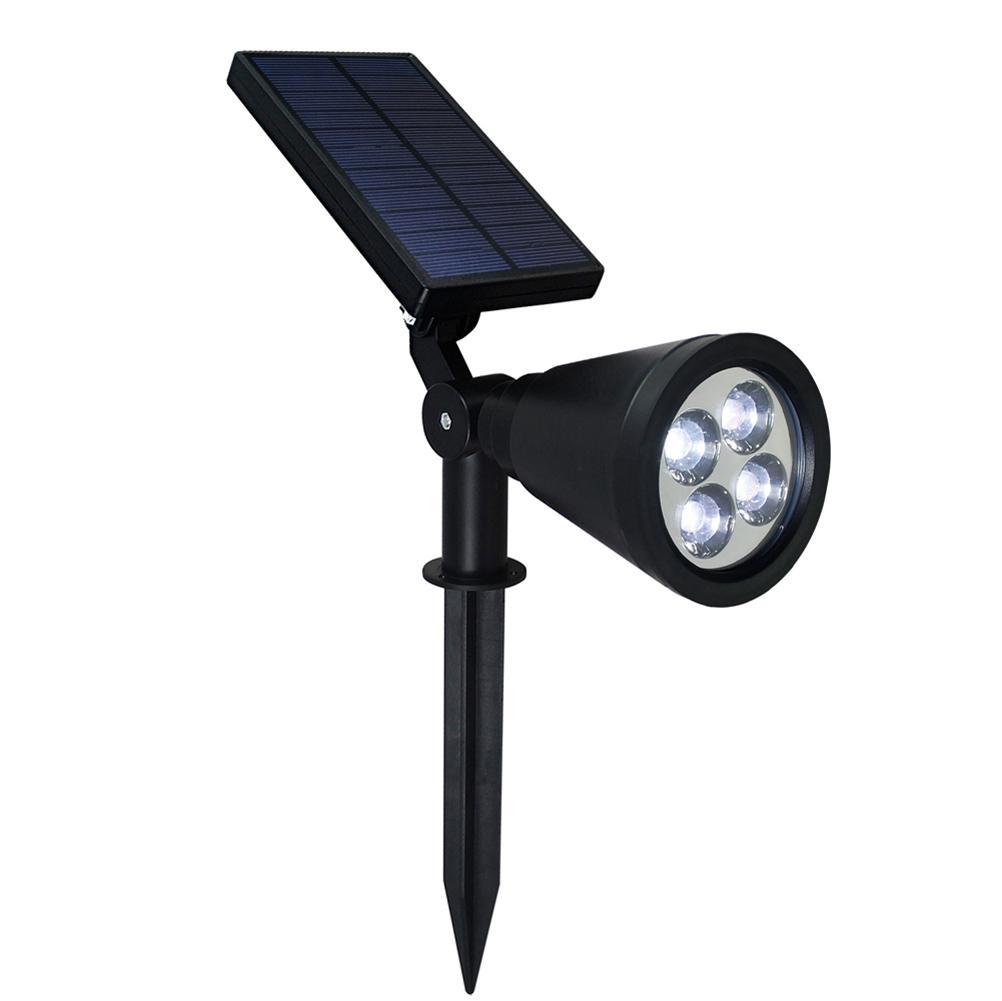 4 LED Solar Power Garden Lamp Spotlight Outdoor Lawn Landscape Waterproof Lig