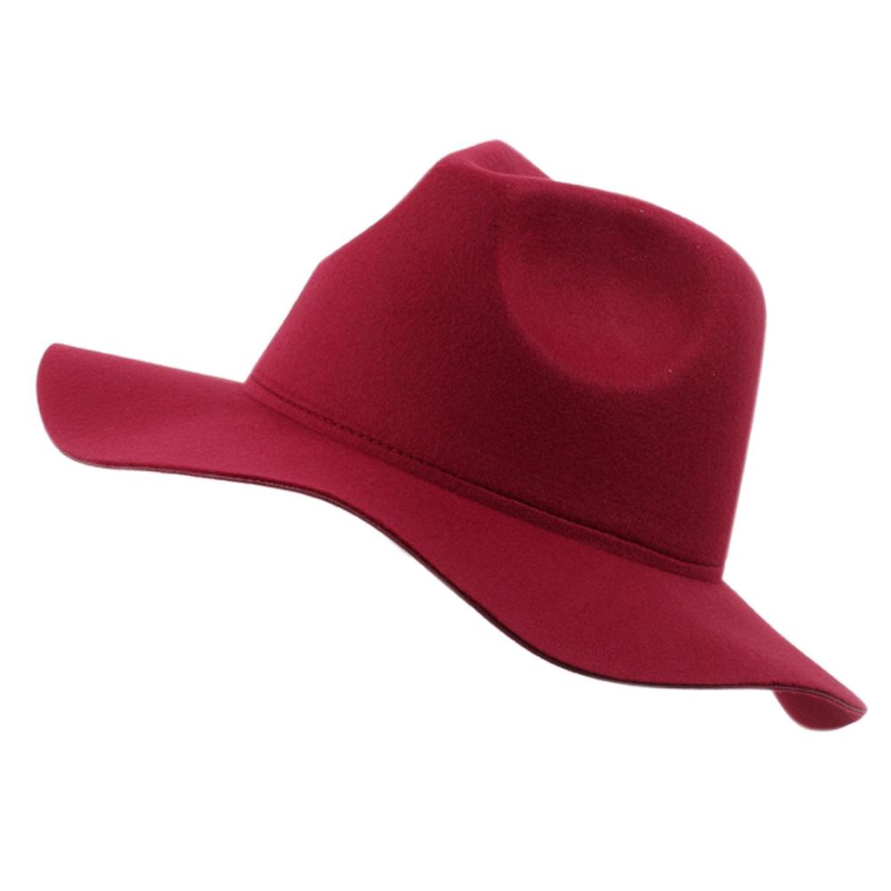 vintage wide brim wool felt hat floppy bowler