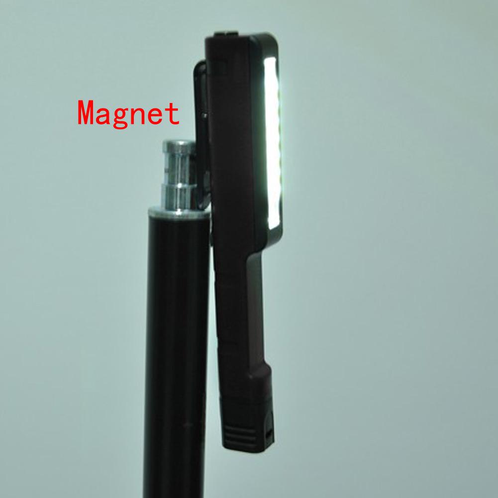 Hands Free Magnetic Clip Lamp Clip Flashlight Mini Torch LED Pocket Light