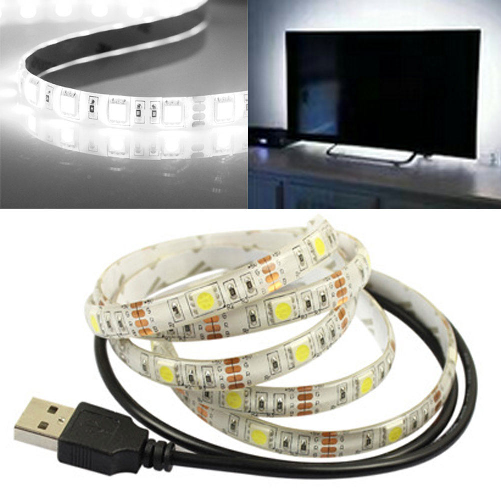 0 5m 1m flexible led usb licht streifen lampe f r fernsehhintergrund dc 5v neu ebay. Black Bedroom Furniture Sets. Home Design Ideas