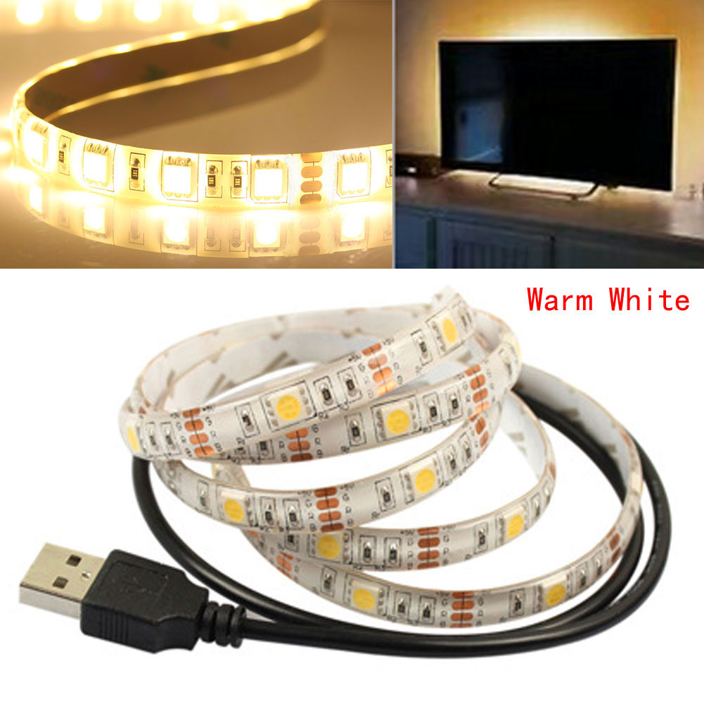 0 5m 1m flexible led usb licht streifen lampe f r. Black Bedroom Furniture Sets. Home Design Ideas