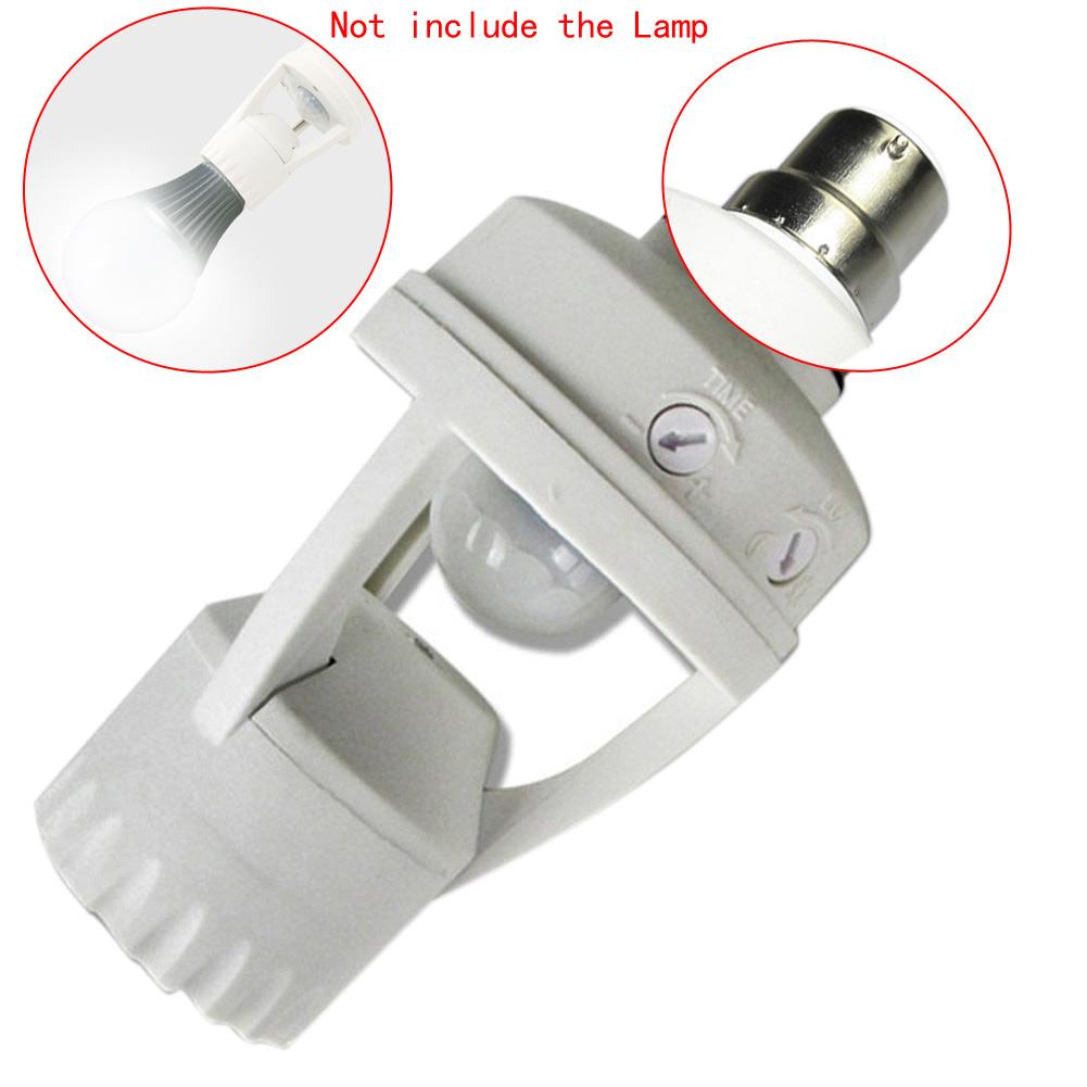 E27 E14 B22 Light Bulb Holder Led Pir Infrared Motion