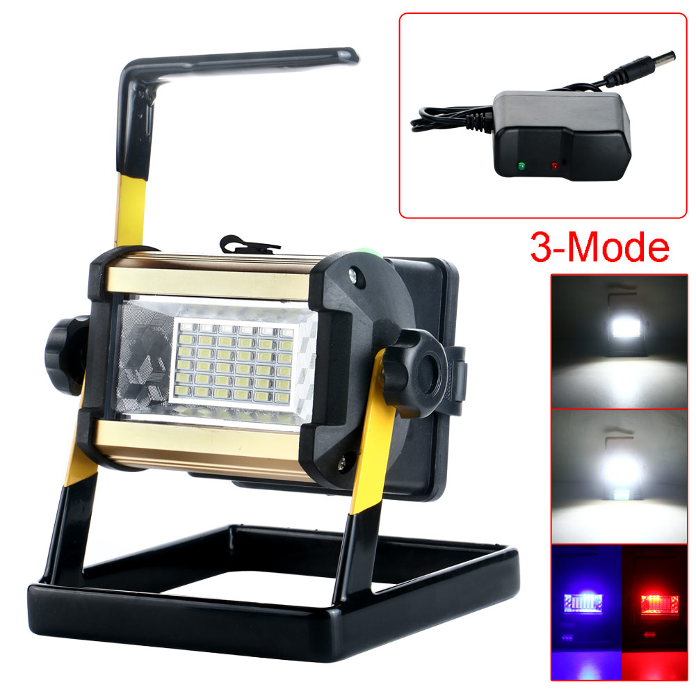 50w 3 modes 36 led rechargeable waterproof portable. Black Bedroom Furniture Sets. Home Design Ideas