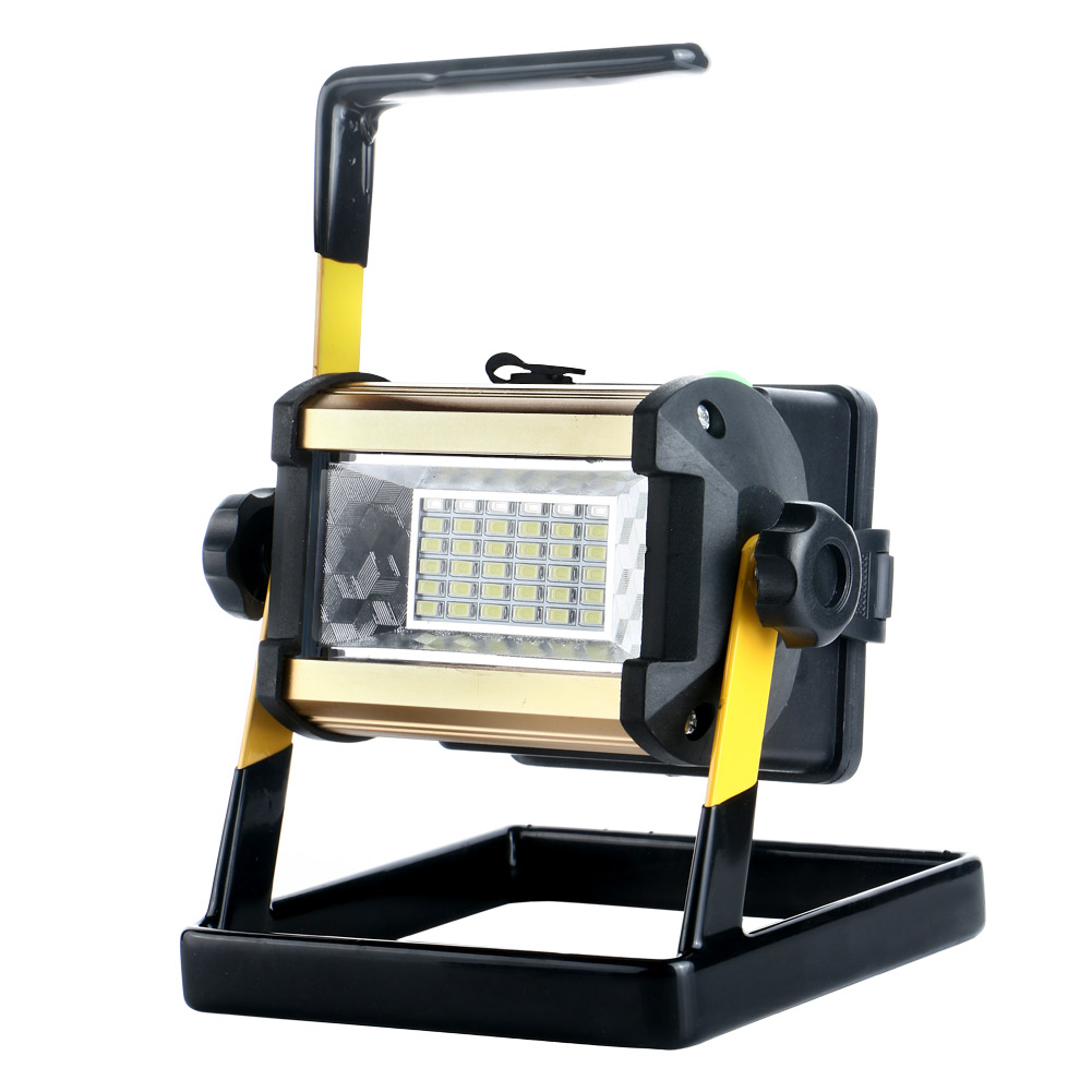 Outdoor Lights Portable: 36 LED 50W Rechargeable Flood Spot Light Camping Portable