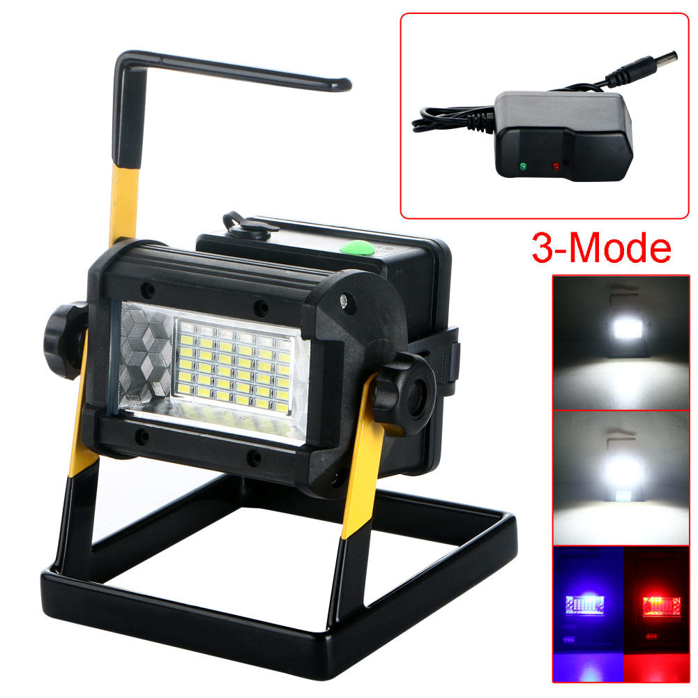 Outdoor Lights Portable: Rechargeable 50W 36LED Portable LED Flood Spot Work Light