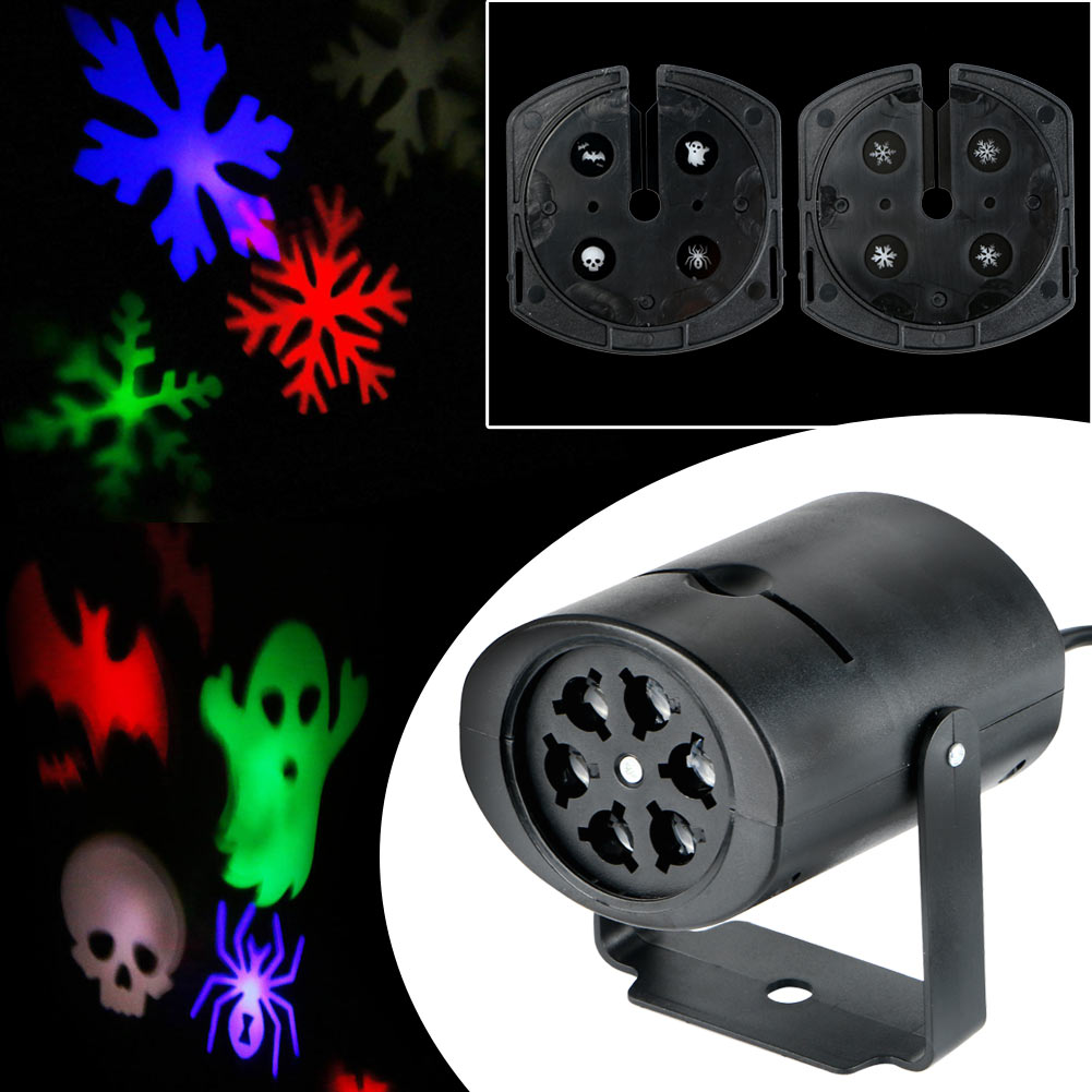 Hot Outdoor Moving LED Snowflake Laser Light Projector Lamp For Xmas Party Decor | eBay