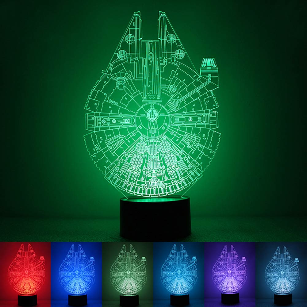 star wars death star 3d led night light touch switch table. Black Bedroom Furniture Sets. Home Design Ideas