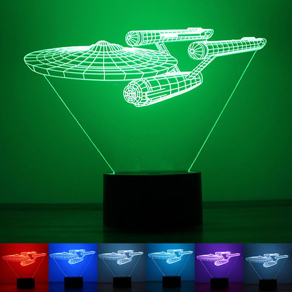 3D LED Star Wars Death Bulb Illusion