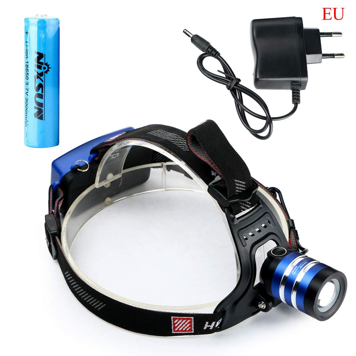 3000Lm CREE XML T6 LED Rechargeable 18650 Zoom Headlamp ...