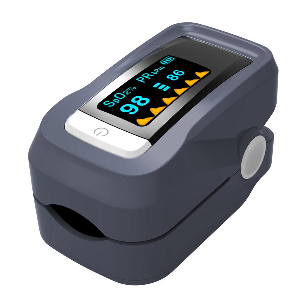 FL350 Fingertip Pulse Oximeter - Blood Oxygen Monitor (Black) - with Case