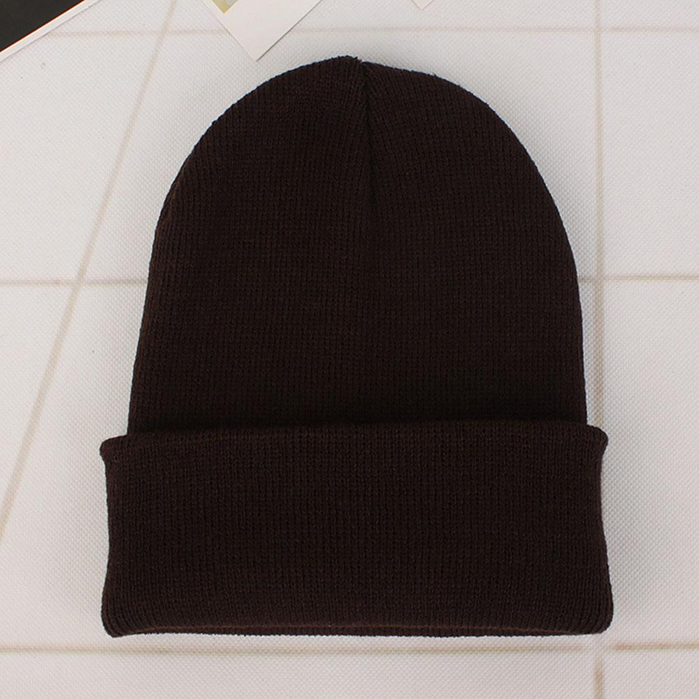 Unisex Solid Wool Knit Hat Autumn Winter Warm Couple Beanie Hedging Cap Hot