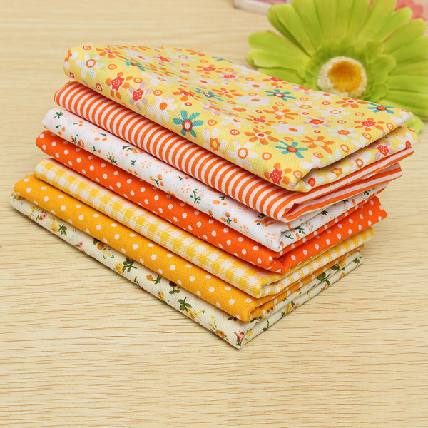 Yellow Series 7 Assorted Pre-Cut Charm Cotton Quilt Fabric 19.7
