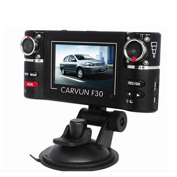 2.7 HD Dual Lens Car Camera DVR Cam Recorder Night Vision F30