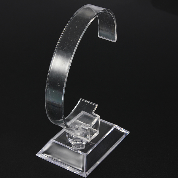 Clear Plastic Jewellery Bracelet Watch Display Show Stand Holder