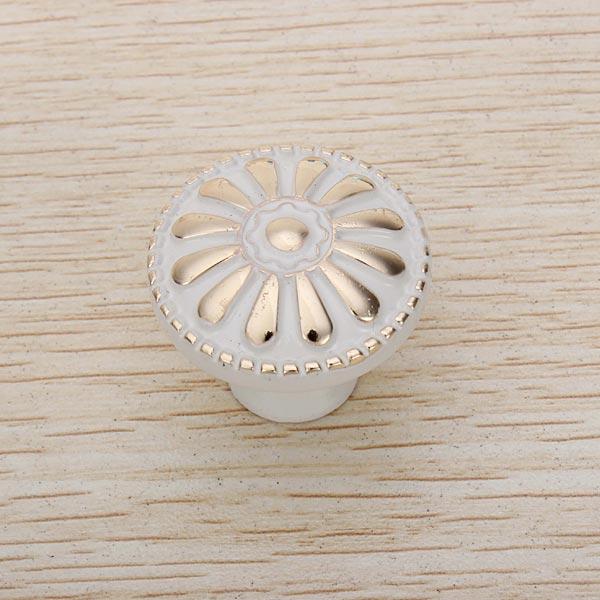 Ivory White Handle Single Hole European Cabinet Drawer Door Handle
