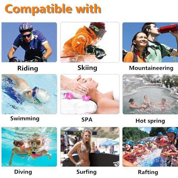4GB Waterproof Clip HIFI MP3 Music Player Sports Swimming Diving FM Radio + Earphone