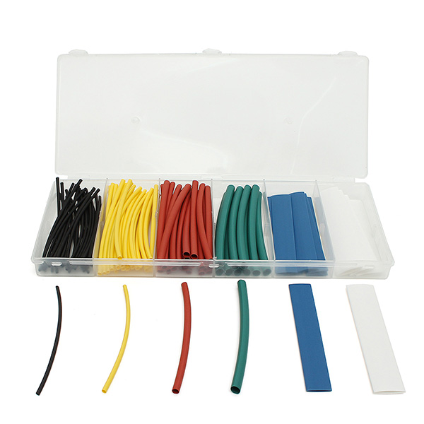 100Pcs 10cm Mixed Color Polyolefin 2:1 Heat Shrink Tubing 6 Sizes