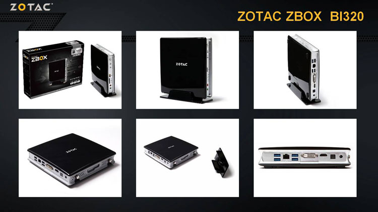 ZBOX BI320 Barebone Intel Celeron 2957U Mini Desktop Computer HTPC