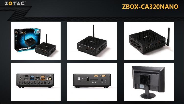 ZBOX CA320 Barebone AMD A6-1450 Quad-core Mini Desktop Computer HTPC