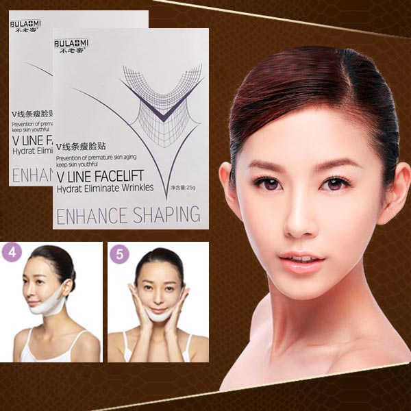3Pcs V Shape Lower Face Lift Mask Super Tightess Shaping Facial Mask