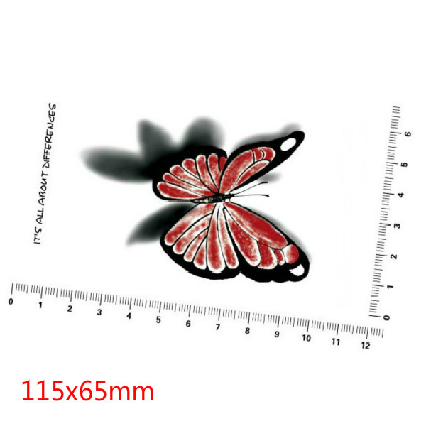 3D Butterfly Waterproof Temporary Transfer Tattoo Sticker