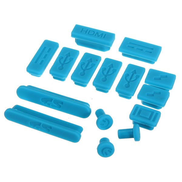 Silicone Anti Dust Plug Ports Set For Macbook 13 15 air 11 Inch