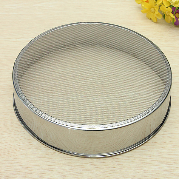 21cm Sliver Stainless Steel Wire Mesh Flour Sifter Professional Tool